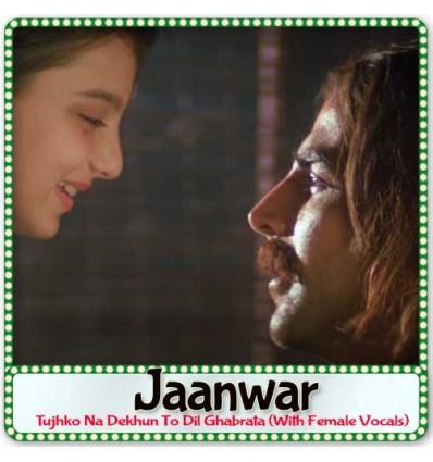 Tujhko Na Dekhun To Dil Ghabrata (With Female Vocals) - Jaanwar (MP3 Format)